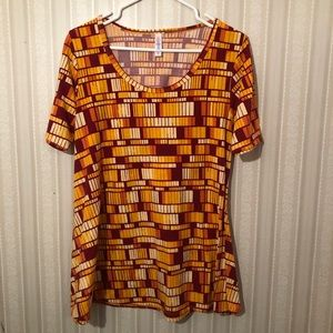 LulaRoe Colorful Top. Size Small.